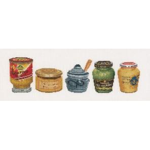 Банки с горчицей Набор для вышивания Thea Gouverneur 3046