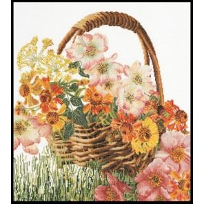 Цветочная корзина Набор для вышивания Thea Gouverneur 3064
