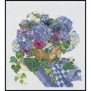 Гортензия-Анемоны Набор для вышивания Thea Gouverneur 3025