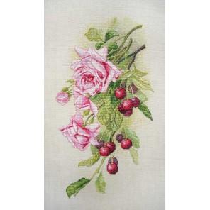 Розы и вишня по картине К. Кляйн Набор для вышивания Марья Искусница 06.002.44