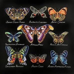 Бабочки (может использоваться для создания подушки) Набор для вышивания Марья Искусница 14.001.08