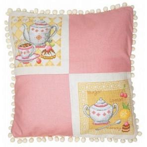 Чайная (может использоваться для создания подушки) Набор для вышивания Марья Искусница 14.001.19
