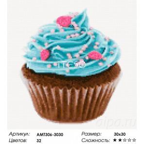Сложность и количество цветов Черничный десерт Алмазная мозаика на твердой основе Iteso