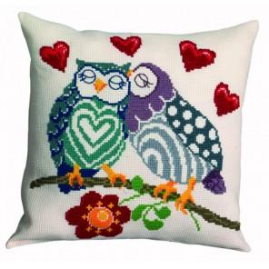 Милые совы Набор для вышивания подушки PERMIN