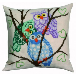 3 совы Набор для вышивания подушки PERMIN