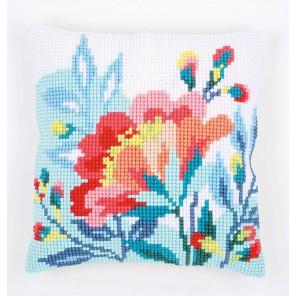 Яркие цветы Набор для вышивания подушки VERVACO