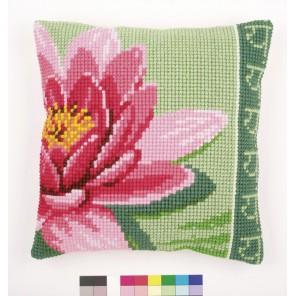 Розовый лотос Набор для вышивания подушки VERVACO