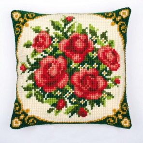 Розы Набор для вышивания подушки VERVACO