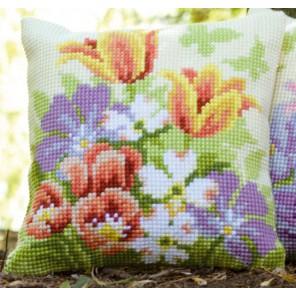 Весенние цветы Набор для вышивания подушки VERVACO