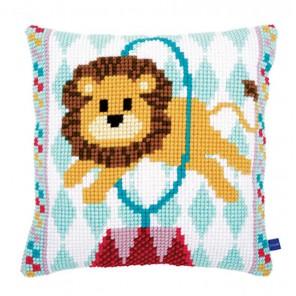 Цирковой лев Набор для вышивания подушки VERVACO
