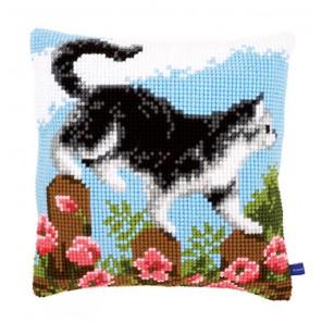 Знакомство с садом II Набор для вышивания подушки VERVACO