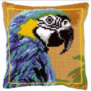 Голубой Ара Набор для вышивания подушки VERVACO