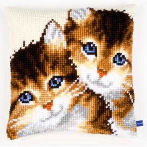 Котята Набор для вышивания подушки VERVACO