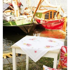 Красочные цветы Набор для вышивания скатерти VERVACO