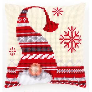Рождественский эльф Набор для вышивания подушки VERVACO