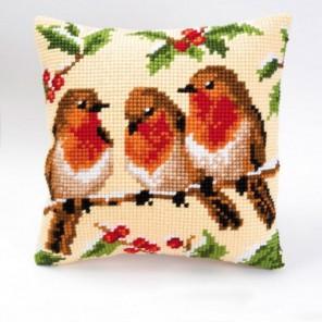 Птички на ветке Набор для вышивания подушки VERVACO