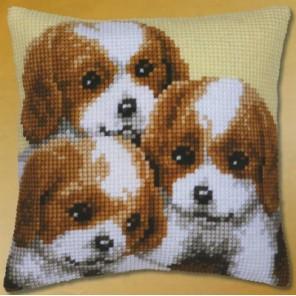 Три щенка Набор для вышивания подушки VERVACO