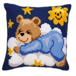 Мишутка-мальчик Набор для вышивания подушки VERVACO