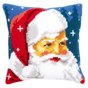 Добрый Санта Клаус Набор для вышивания подушки VERVACO