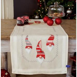 Рождественские гномы Набор для вышивания дорожки VERVACO