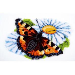 Бабочка на ромашке Набор для вышивания коврика VERVACO