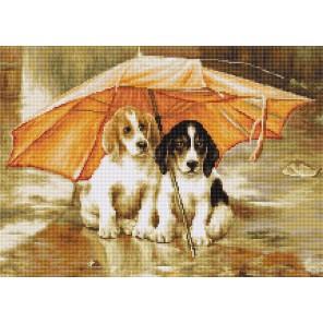 Двое под зонтом Набор для вышивания LUCA-S