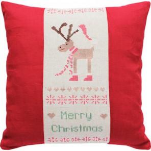Merry Christmas Набор для вышивания подушки LUCA-S