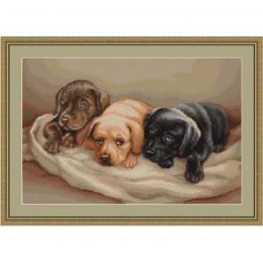 Три собачки Набор для вышивания LUCA-S