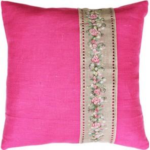 Гирлянда из роз Набор для вышивания подушки LUCA-S