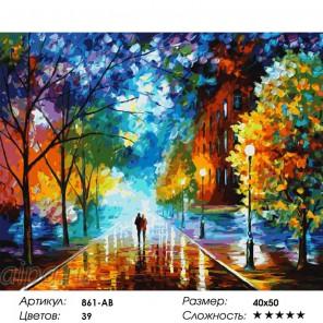 Сложность и количество цветов Прохладная свежесть Раскраска картина по номерам на холсте 861-AB
