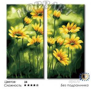 1_ Поле цветов Раскраска по номерам на холсте Hobbart