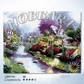 Количество цветов и сложность На другом берегу Раскраска по номерам на холсте Hobbart HB4050048