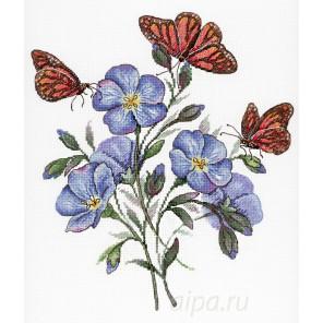 Цветок льна Набор для вышивания МП Студия НВ-675