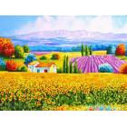 Лето в Провансе Алмазная мозаика на подрамнике LE011