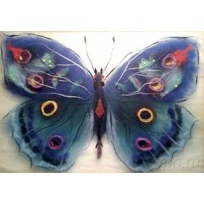 Бабочка Артемида Картина из шерсти с рамкой