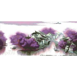 Сиреневый остров Алмазная вышивка (мозаика) 5288