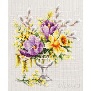 Весенний букетик Набор для вышивания Чудесная игла 100-002