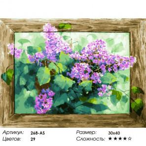 Сложность и количество красок Любимая сирень Раскраска картина по номерам на холсте Белоснежка 268-AS