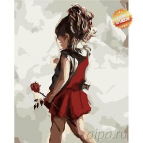 Количество цветов и сложность Маленькая леди Раскраска картина по номерам на холсте MG2089
