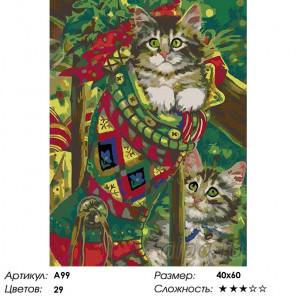Количество цветов и сложность Рождественские подарки Раскраска картина по номерам на холсте A99