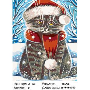 Количество цветов и сложность Зима пришла Раскраска картина по номерам на холсте A173