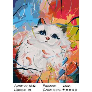 Количество цветов и сложность Красавица Раскраска картина по номерам на холсте A182