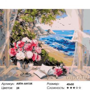 Количество цветов и сложность Морская свежесть Раскраска по номерам на холсте Живопись по номерам ARTH-AH154