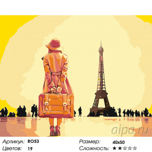Количество цветов и сложность Встреча с Парижем Раскраска по номерам на холсте Живопись по номерам RO53