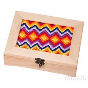Геометрия барджелло Набор для вышивания и декора шкатулки МАТРЕНИН ПОСАД 12003