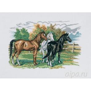 Три лошади Набор для вышивания Eva Rosenstand 72-474