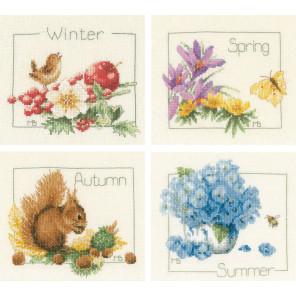 4 Seasons set of 4 Набор для вышивания LanArte PN-0173621