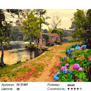 Количество цветов и сложность Цветущие аллеи Раскраска картина по номерам на холсте ZX 21207