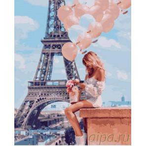 Мечты о Париже Раскраска картина по номерам на холсте GX26714