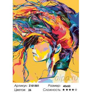 Количество цветов и сложность Радужная прическа Раскраска по номерам на холсте Живопись по номерам Z101501